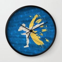 Kickin' It (An Homage To Chun-Li) Wall Clock