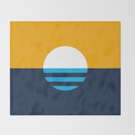 The People's Flag of Milwaukee Throw Blanket