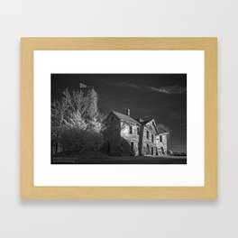 The Crooked House in Sepia Framed Art Print