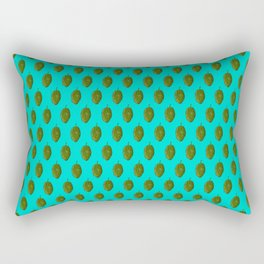 Hops Cyan Pattern Rectangular Pillow