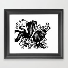 Snake and Rat Framed Art Print