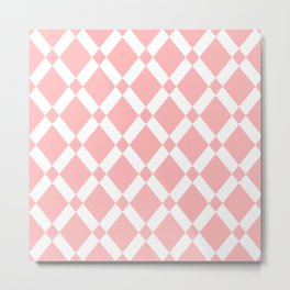 Abstract pattern - pink and white. Metal Print