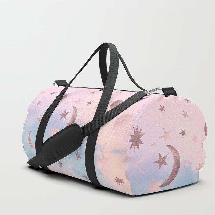 Pastel Starry Sky Moon Dream #2 #decor #art #society6 Duffle Bag