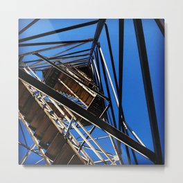 Fire Tower Stairs Metal Print