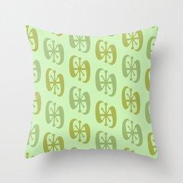 Starburst Bell Peppers Light Green Throw Pillow