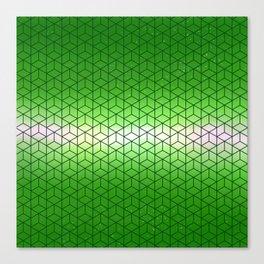 Green Geometric sky pattern Canvas Print