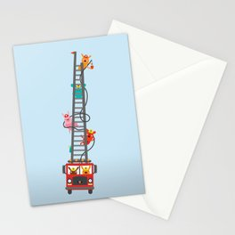 Brave Firefighters Stationery Cards