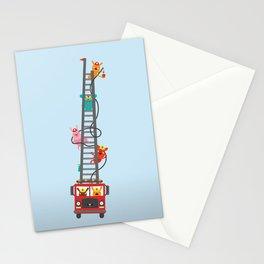 Brave Firefighters Stationery Cards