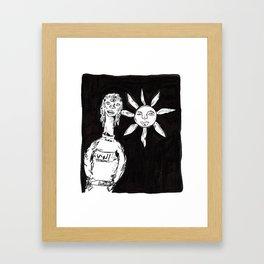 sun-child called shamsi Gerahmter Kunstdruck