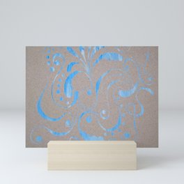 marbled design Mini Art Print