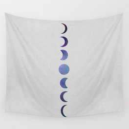 Galaxy Moon Phases Wall Tapestry