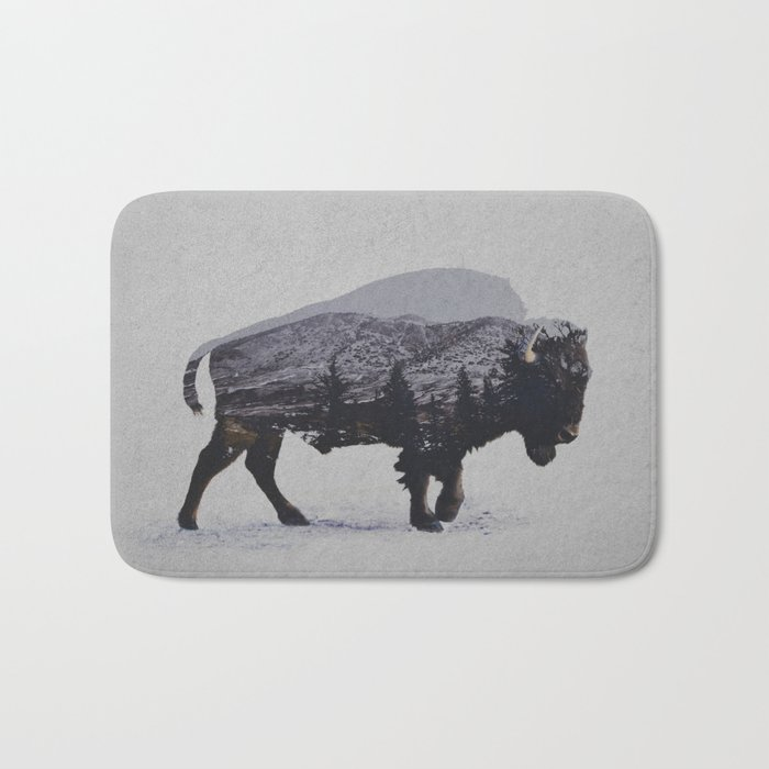 The American Bison Bath Mat