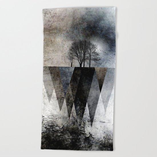 TREES over MAGIC MOUNTAINS II Beach Towel