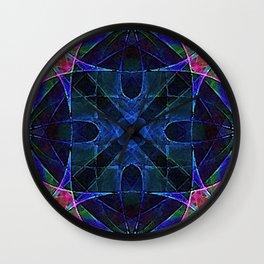 Spacial Cube in Blue Wall Clock