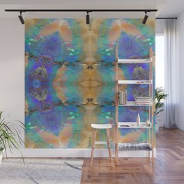 Aquamarine Opal Gemstone Marble Pattern Wall Mural