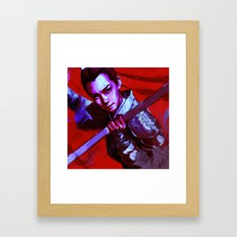 War Lady Framed Art Print