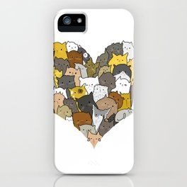 I Love Cats iPhone Case