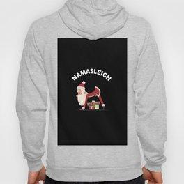 Funny Christmas Namasleigh Santa Yoga Position Gift T-Shirt Hoody