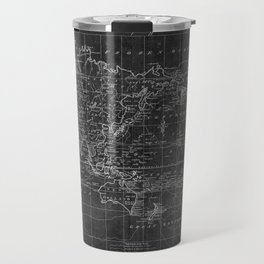 Black and White World Map (1799) Inverse Travel Mug