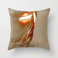 iron man Throw Pillows featuring Iron Man by Fernando Vieira