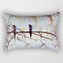Multi Magpie Rectangular Pillow