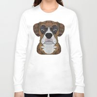 boxer Long Sleeve T-shirts featuring Boxer by ArtLovePassion