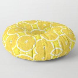 Orange Slice Paradise Vector Pattern Floor Pillow