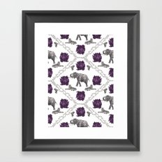 The Tale of Two Tigers Framed Art Print