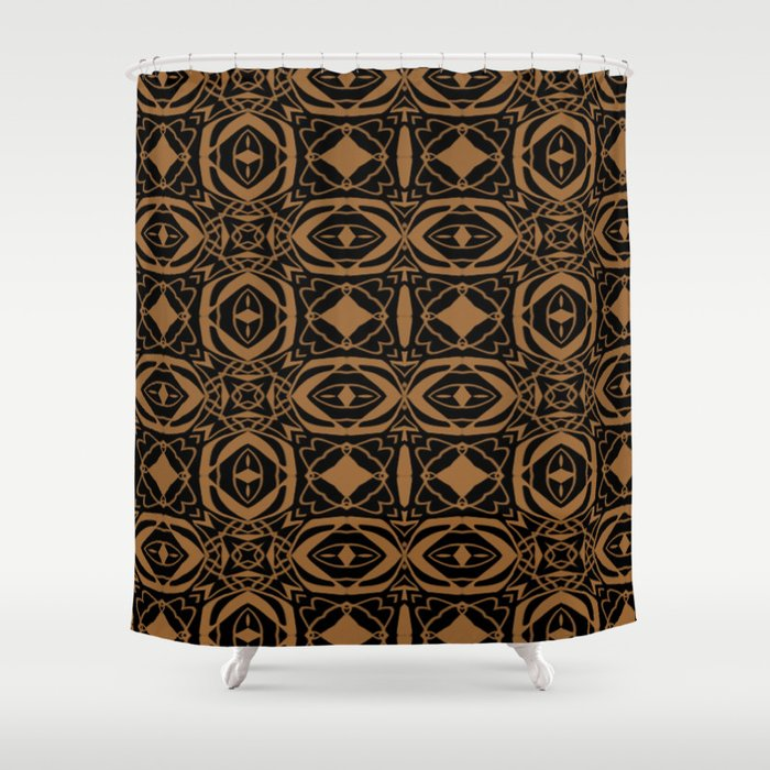 Black and Bronze 2666 Shower Curtain