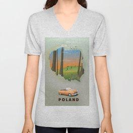 Poland Unisex V-Neck