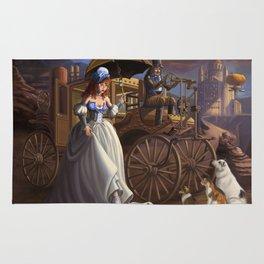 Steampunk Cinderella Rug