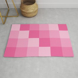 Four Shades of Pink Square Rug