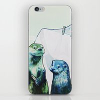 otters iPhone & iPod Skins featuring Otters' Endeavors by Sarah Bear