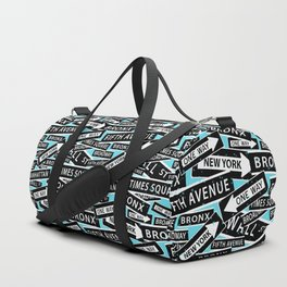 New York Street Signs Typographic Pattern Duffle Bag