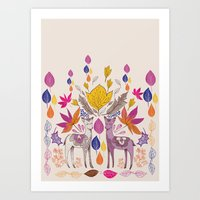Fall in Love with Fawns Art Print