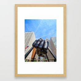 Fist Framed Art Print