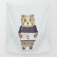 i like you Wall Tapestries featuring i like you by bri.buckley