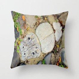 Hippo Camp Throw Pillow