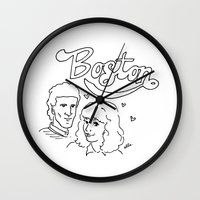 boston Wall Clocks featuring Boston by elle stone