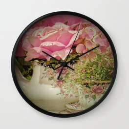 Teacups and Roses 2 Wall Clock