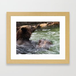 A Great Day to Play in the Water with a LOG Framed Art Print