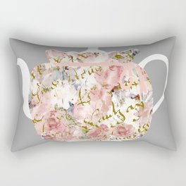 French Script and Roses Tea Cozy Rectangular Pillow
