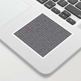 Web Design Words Poster Sticker