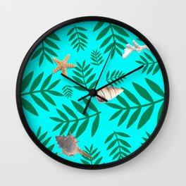 leaf coral Wall Clock