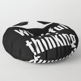 Halloween Pun - Witchful Thinking Floor Pillow