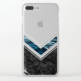 Striped Materials of Nature II Clear iPhone Case