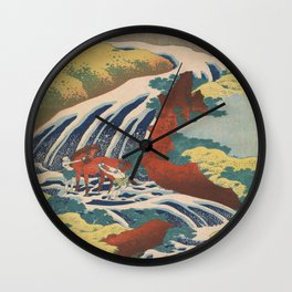 Vintage poster - Yoshitsune Falls Wall Clock