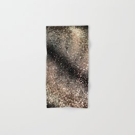 Sparkling GOLD BLACK Lady Glitter #3 #decor #art #society6 Hand & Bath Towel