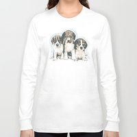 puppies Long Sleeve T-shirts featuring Puppies 1 by JennFolds5 * Jennifer Delamar-Goss