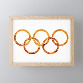 Flaming Olympic Rings Framed Mini Art Print